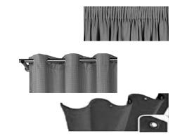 Tipos de confección para Cortinas acústicas para Aislamiento